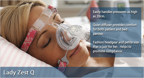 F&P Lady Zest Q Nasal CPAP Mask