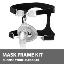 F&P 407 Nasal CPAP Mask Kit, No Headgear 400HC502
