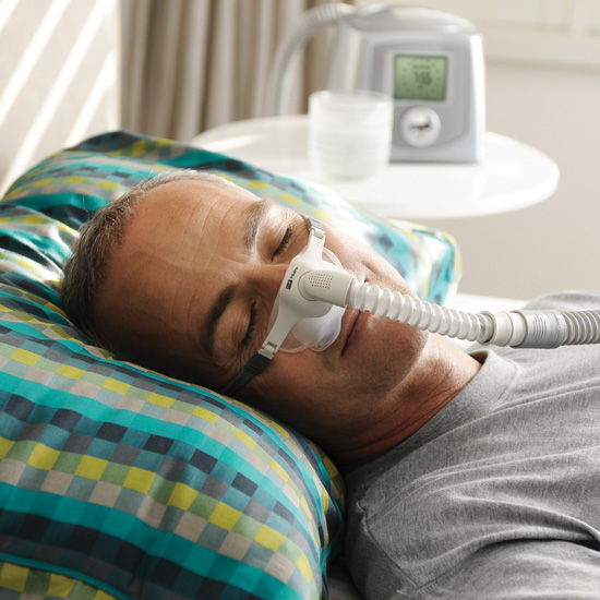 In Use - Fisher & Paykel Pilairo Nasal Pillows Mask