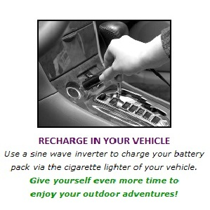 Charge in your vehicle
