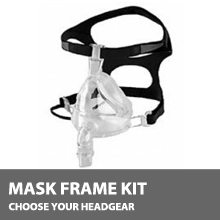F&P 431 Full Face CPAP Mask Kit, No Headgear